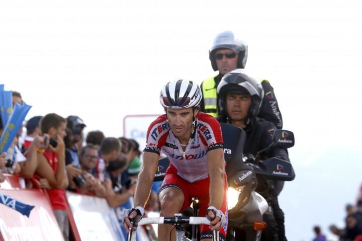 Dani Moreno tijdens de afgelopen Vuelta (foto: Sirotti).