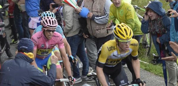 2015, Giro d'Italia, tappa 16 Pinzolo - Aprica, Lotto NL - Jumbo 2015, Tinkoff - Saxo 2015, Kruijswijk Steven, Contador Alberto, Mortirolo