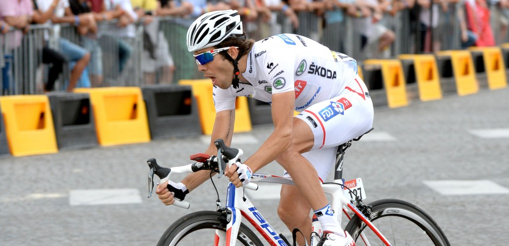 Thibaut Pinot, vorig jaar winnaar van het jongerenklassement - foto: Sirotti