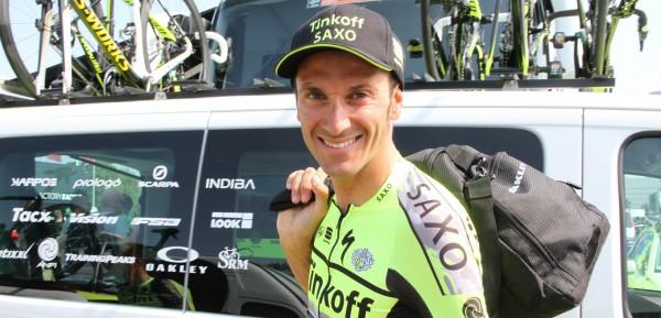 Ivan Basso verlaat de Tour - foto: Marcel Koch