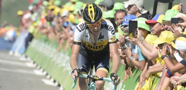 Robert Gesink finisht als vierde op La Pierre-Saint-Martin - Foto: Sirotti
