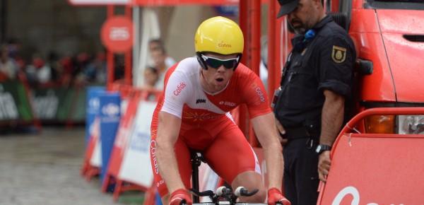 Romain Zingle in tijdrit Santiago de Compostela in Vuelta- Foto: Sirotti