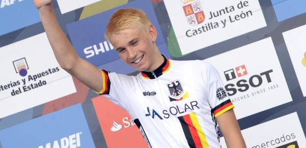 Lennard Kämna na zijn wereldtitel in Ponferrada - Foto: Sirotti