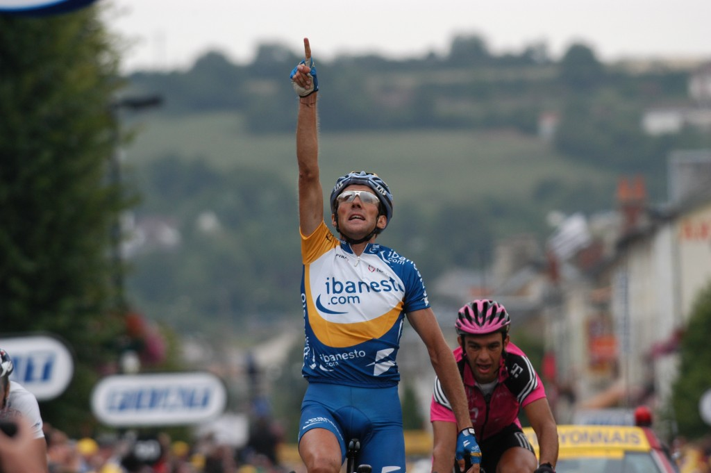 Lastras wint zijn Touretappe in 2003 - Foto: Sirotti