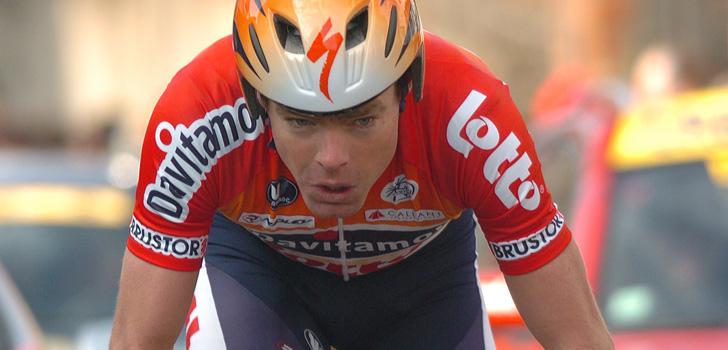 Evans in het shirt van Davitamon-Lotto - Foto: Sirotti