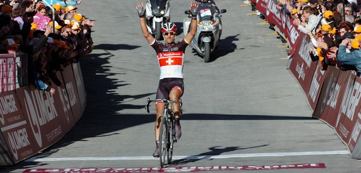 Fabian Cancellara won in 2011 voor het laatst Strade Bianche