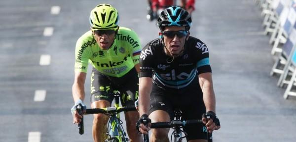 Contador en Henao staan op pole position voor eindwinst - foto: © 2016 Zikliamatore