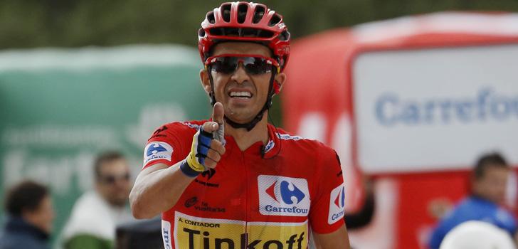 Alberto Contador in de Vuelta