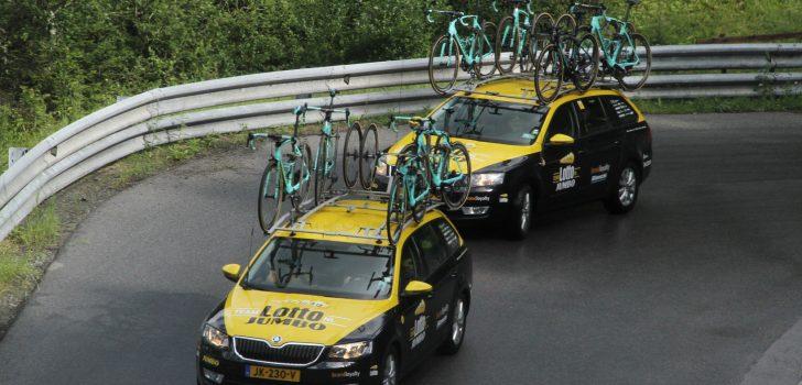 Pechdag LottoNL-Jumbo, Taminiaux, Bouwman, Carapaz