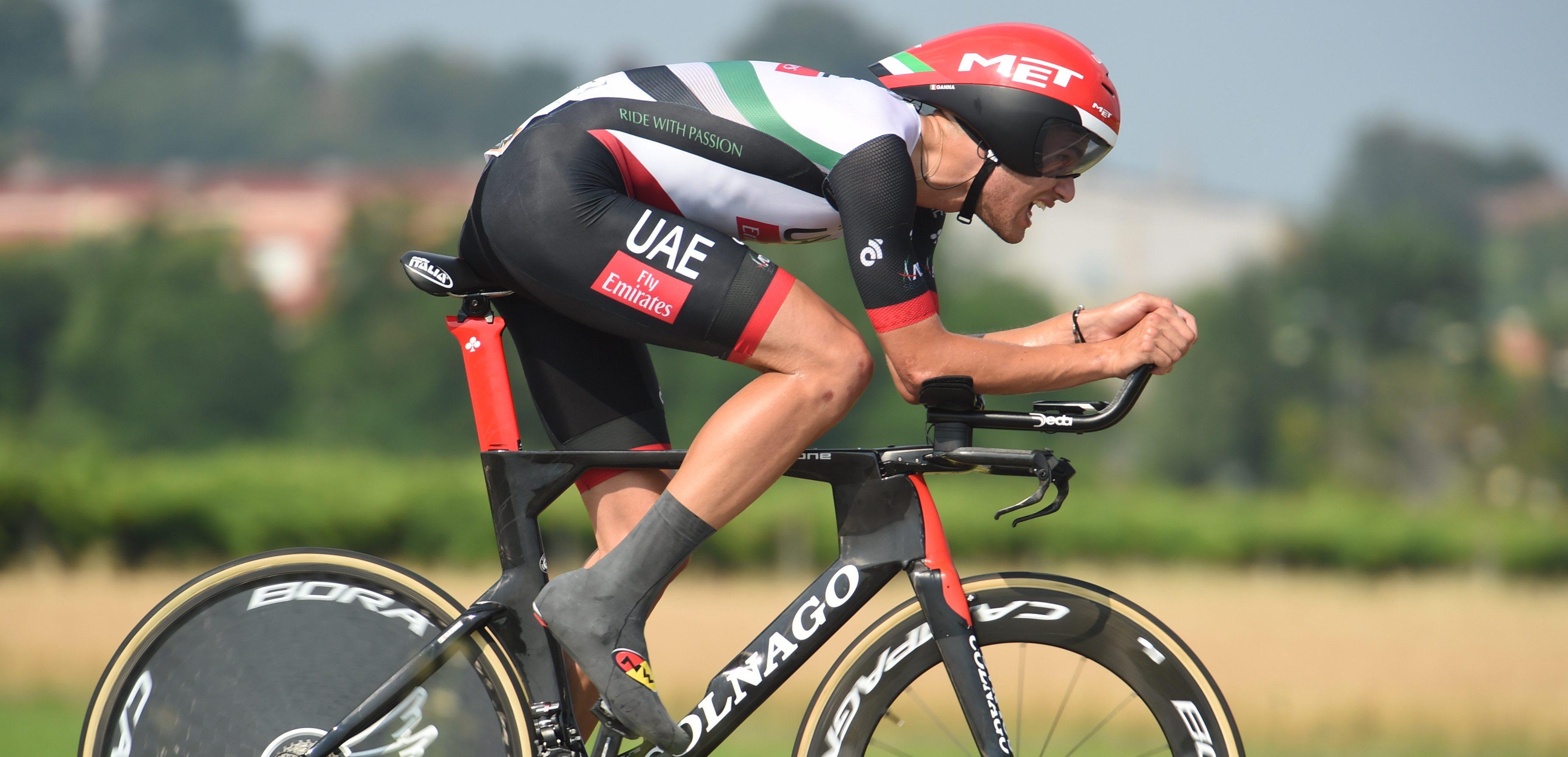 Tijdritmachine Ganna op het Italiaans kampioenschap tegen de klok -