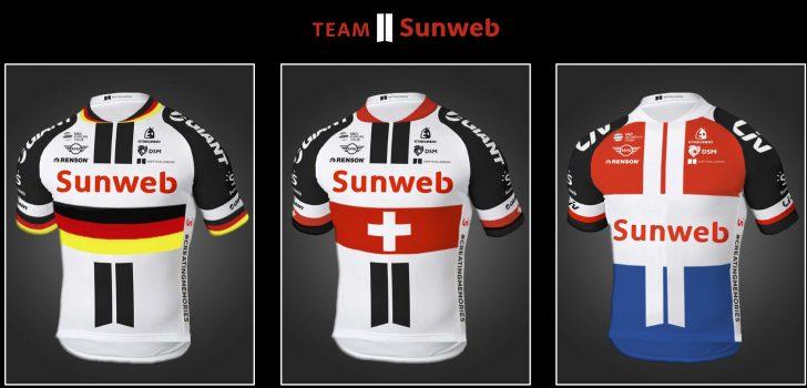 Meer rood-wit-blauw in kampioenstrui Sunweb