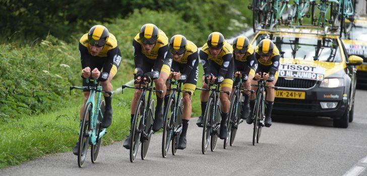 Tevredenheid bij LottoNL-Jumbo na ploegentijdrit Dauphiné