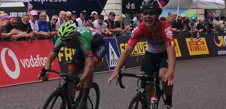 Lonardi profiteert in Giro U23 van te vroeg juichen Thijssen, Philipsen leider