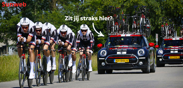 Volg de Tour de France als VIP in de auto van Team Sunweb