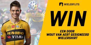 Speel onze wielerquiz en win een door Wout van Aert gesigneerd wielershirt